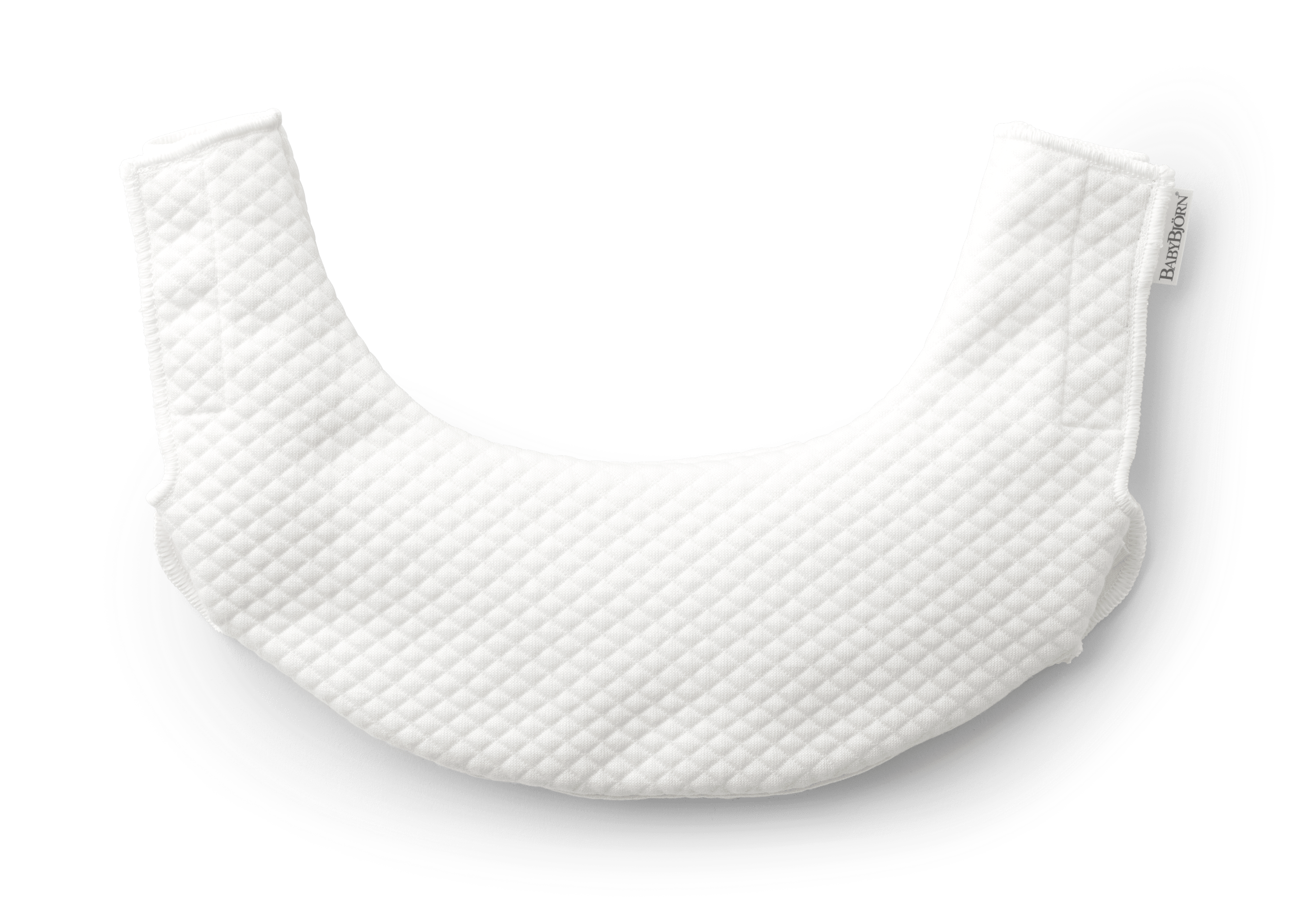 BABYBJÖRN Teething Bib for Baby Carrier One White 030121