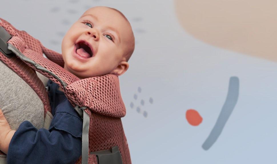 BABYBJÖRN Baby Carrier One Air – Vintage Rose, Mesh