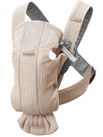 Baby Carrier Mini in Pearly pink in airy and soft 3D Mesh - BABYBJÖRN