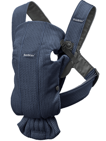 Baby Carrier Mini in Navy blue airy and soft 3D Mesh - BABYBJÖRN