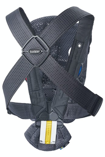 Baby Carrier Mini Anthracite in a soft and airy 3D Mesh - BABYBJÖRN