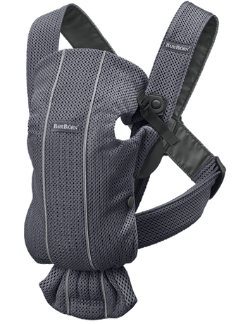 Baby Carrier Mini in Anthracite airy and soft 3D Mesh - BABYBJÖRN