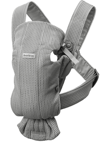Baby Carrier Mini Grey in airy and soft 3D Mesh - BABYBJÖRN