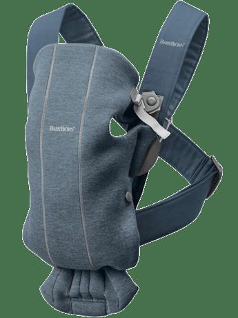 Babytrage Mini Taubenblau 3D Jersey - BABYBJÖRN