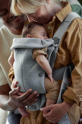 Baby Carrier Mini Light Grey in 3D Jersey - BABYBJÖRN