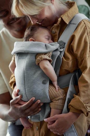 Baby Carrier Mini Light Grey in 3D Jersey - BABYBJÖRN