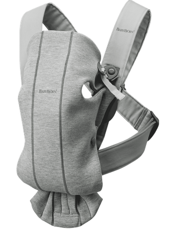 Baby Carrier Mini Light Grey in cosy, airy and soft 3D Jersey - BABYBJÖRN