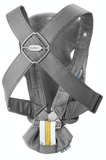 Baby Carrier Mini in dark grey 3D Jersey - BABYBJÖRN