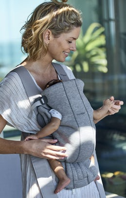 Baby Carrier Mini Light Grey 3D Jersey - BABYBJÖRN