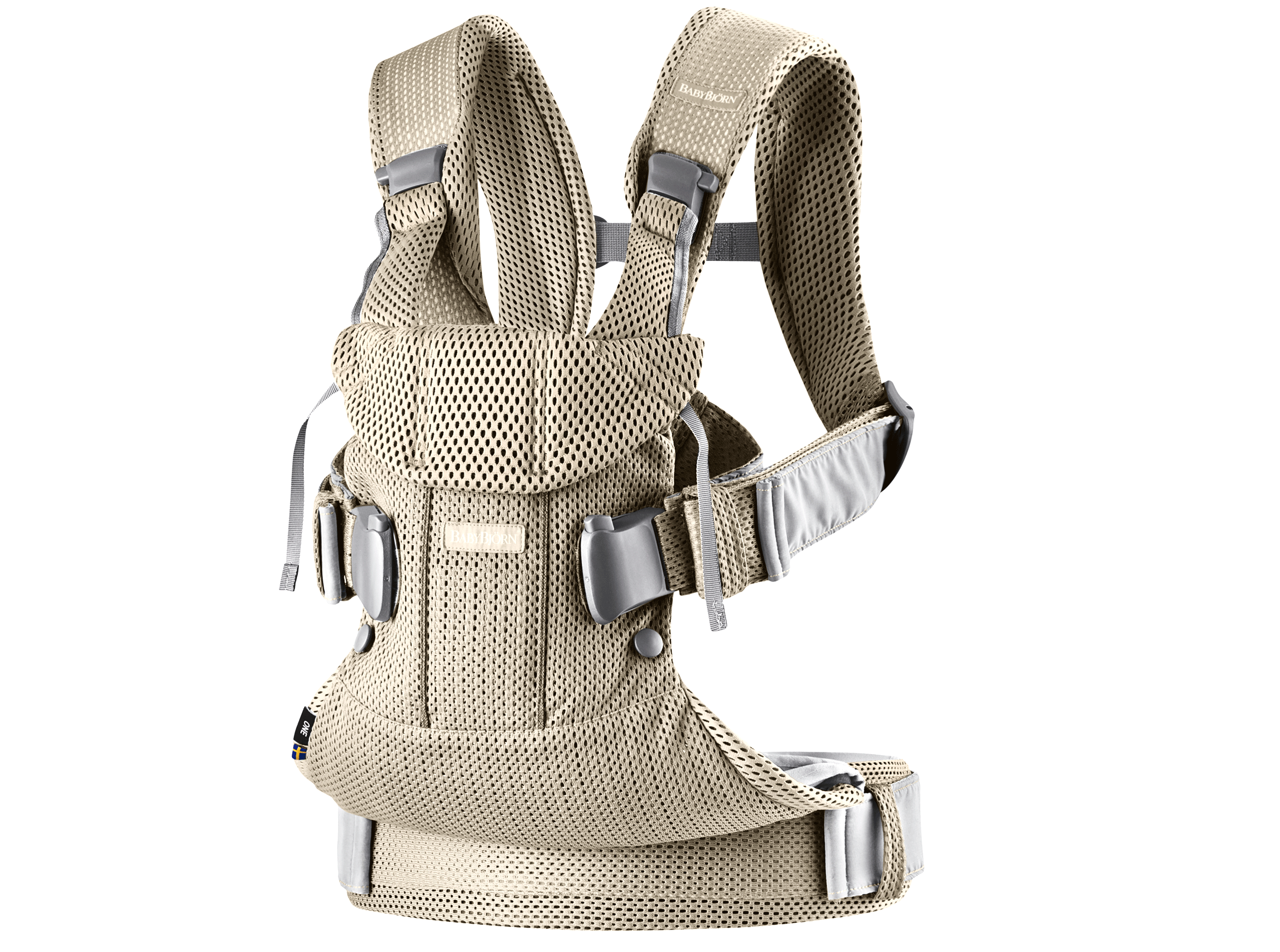 BABYBJÖRN Baby Carrier One Air – Greige, Mesh
