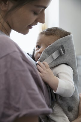 Baby Carrier Mini Light Grey in supersoft 3D Jersey - BABYBJÖRN