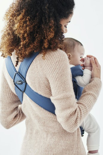 Baby Carrier Mini in Vintage Indigo soft Cotton - BABYBJÖRN