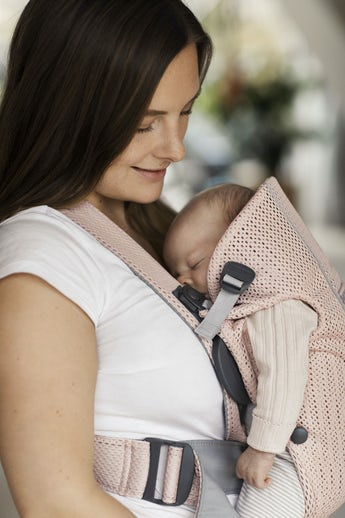 Baby Carrier Mini – Soft Selection – Pearly Pink in 3D Mesh - BABYBJÖRN