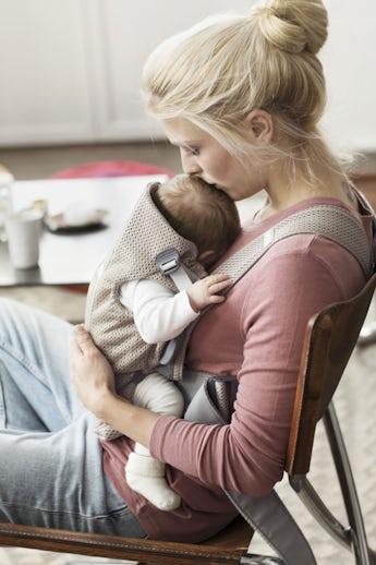 Babytrage Mini Greige 3D Mesh- BABYBJÖRN