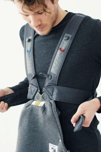 Marsupio Mini Grigio Scuro 3D Jersey - BABYBJÖRN