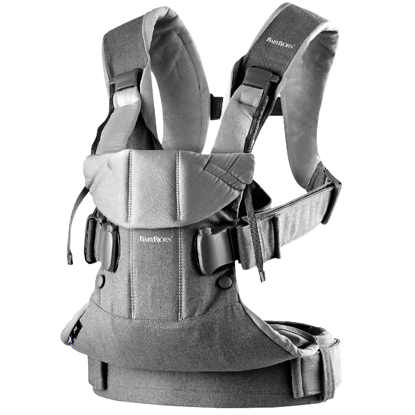 Baby Carrier One Denim Gray/Dark Gray Cotton Mix-098094-BABYBJÖRN-startpage-1342