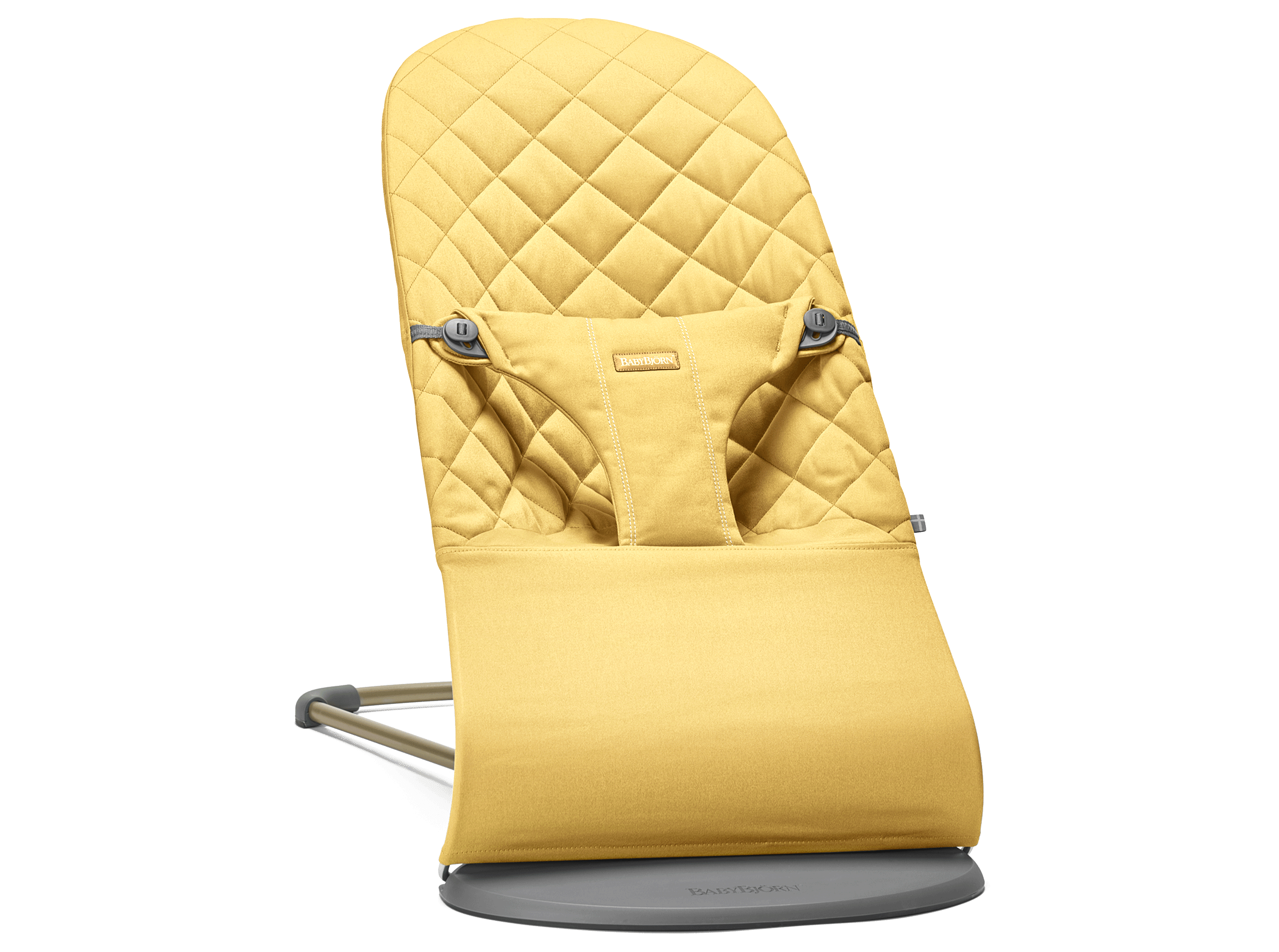 BABYBJÖRN Bouncer Bliss, Yellow, Cotton – Baby Power Collection