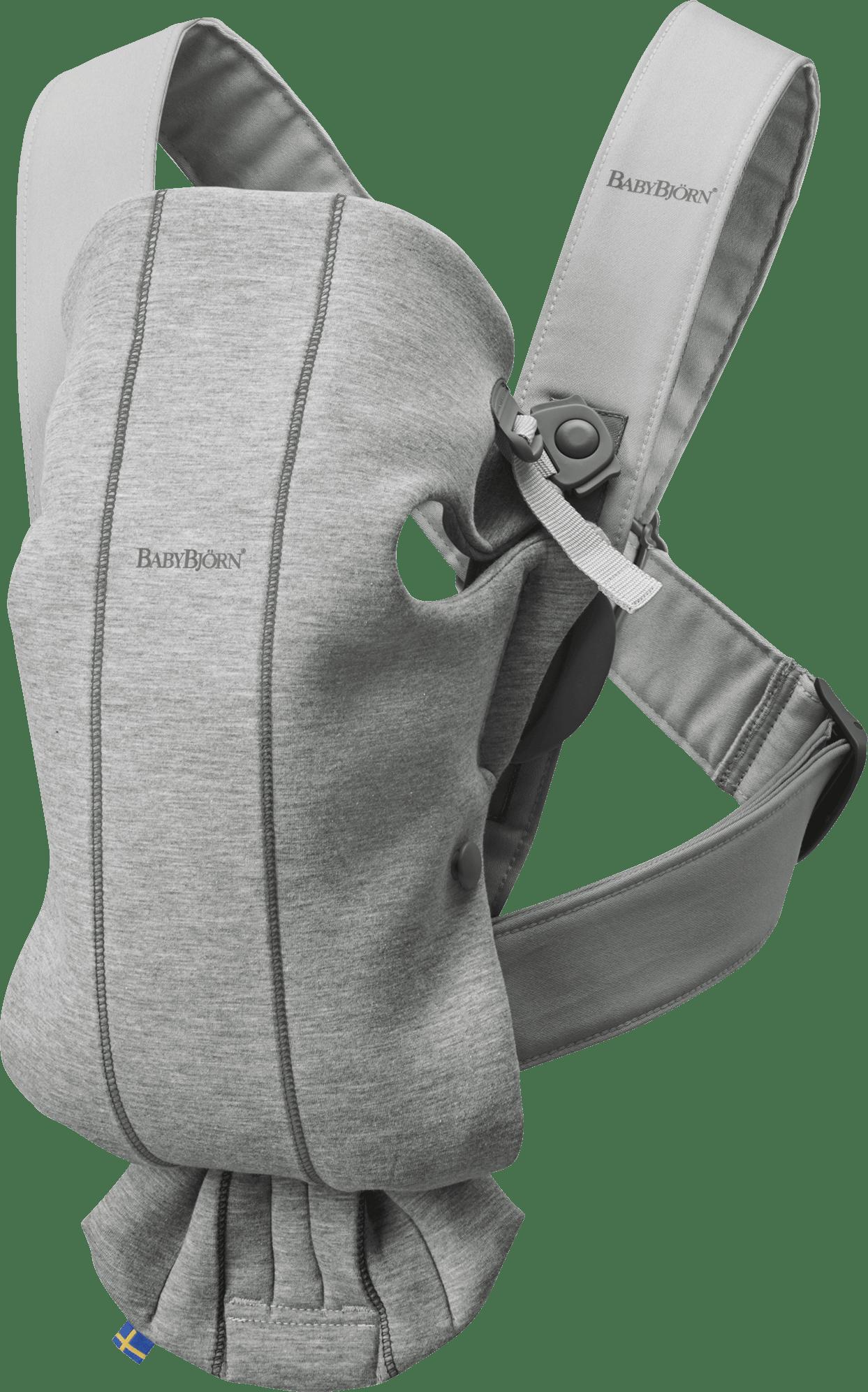 Porte-bébé Mini, Gris clair, 3D Jersey, le porte-bébé idéal pour les nouveau-nés - BABYBJÖRN
