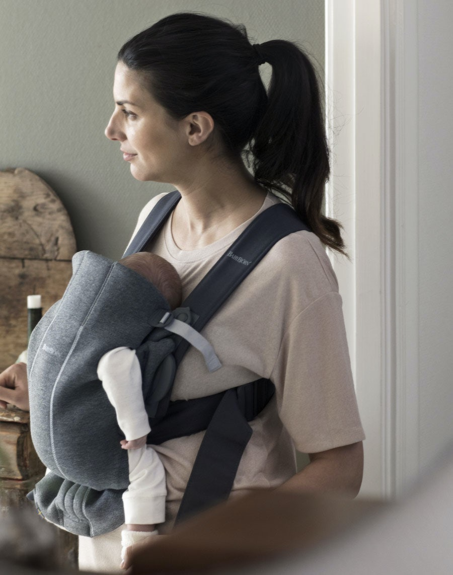 cf8dfc054ff Our softest jersey is as snuggly as your comfiest T-shirt. Baby Carrier Mini  – Dark grey