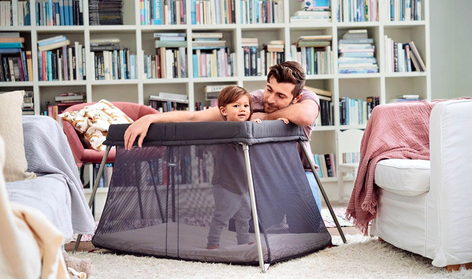 Travel Cot Easy Go - Anthracite mesh, from Babybjörn
