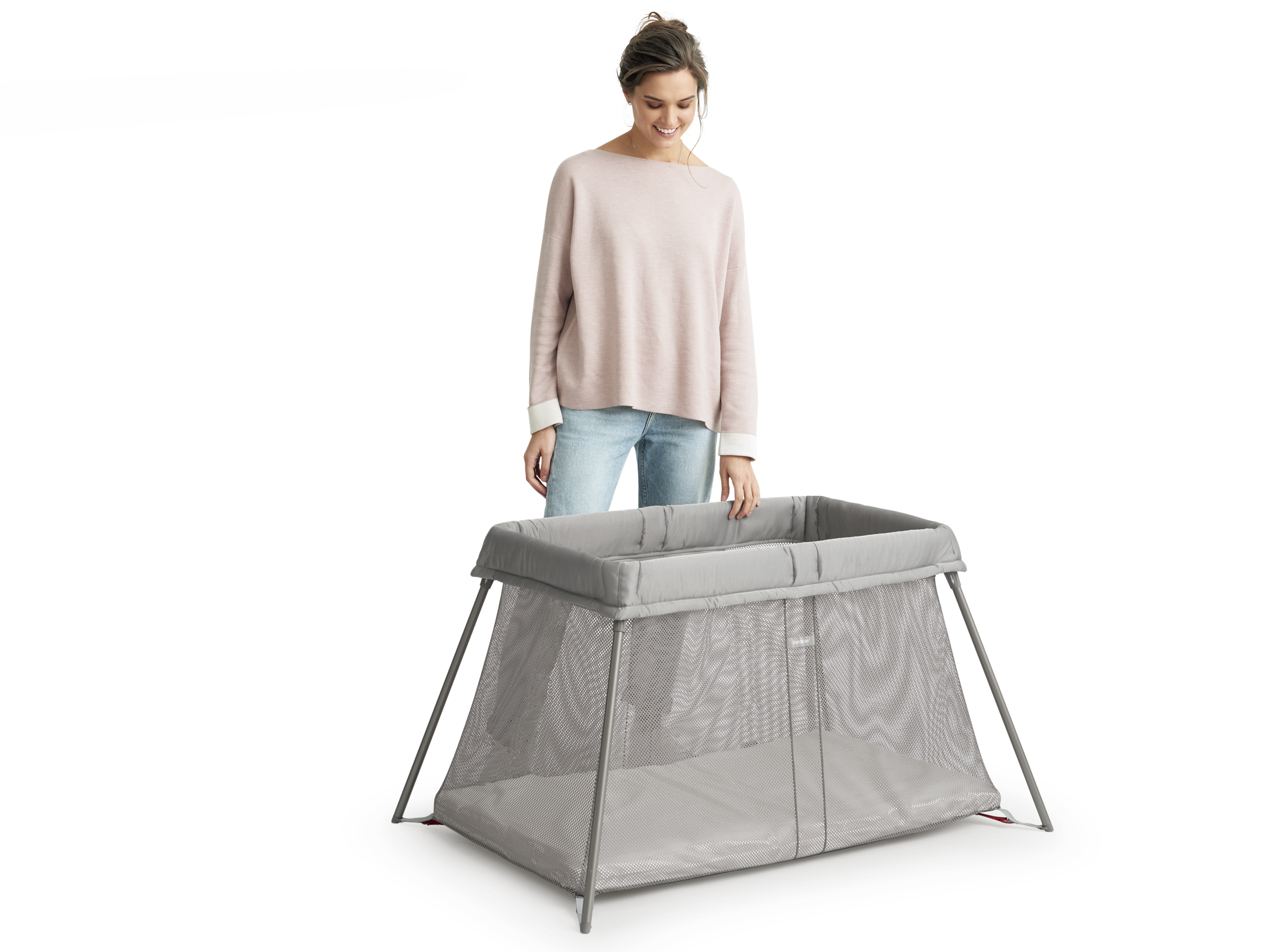 Small Travel Cot For Baby Easy To Use Babybj 214 Rn