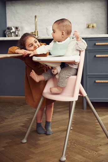 High Chair Light Pink Grey - BABYBJÖRN