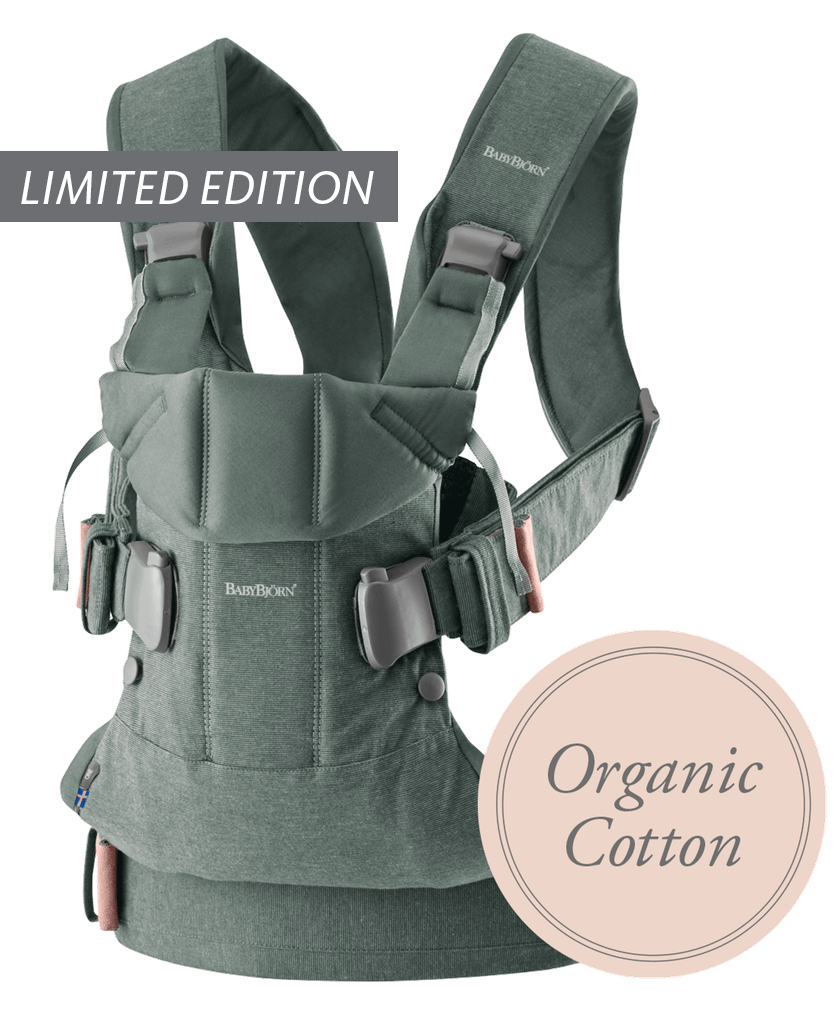 Baby-Carrier-One-Greyish-Green-Organic-cotton-098068-BABYBJÖRN-limited-edition