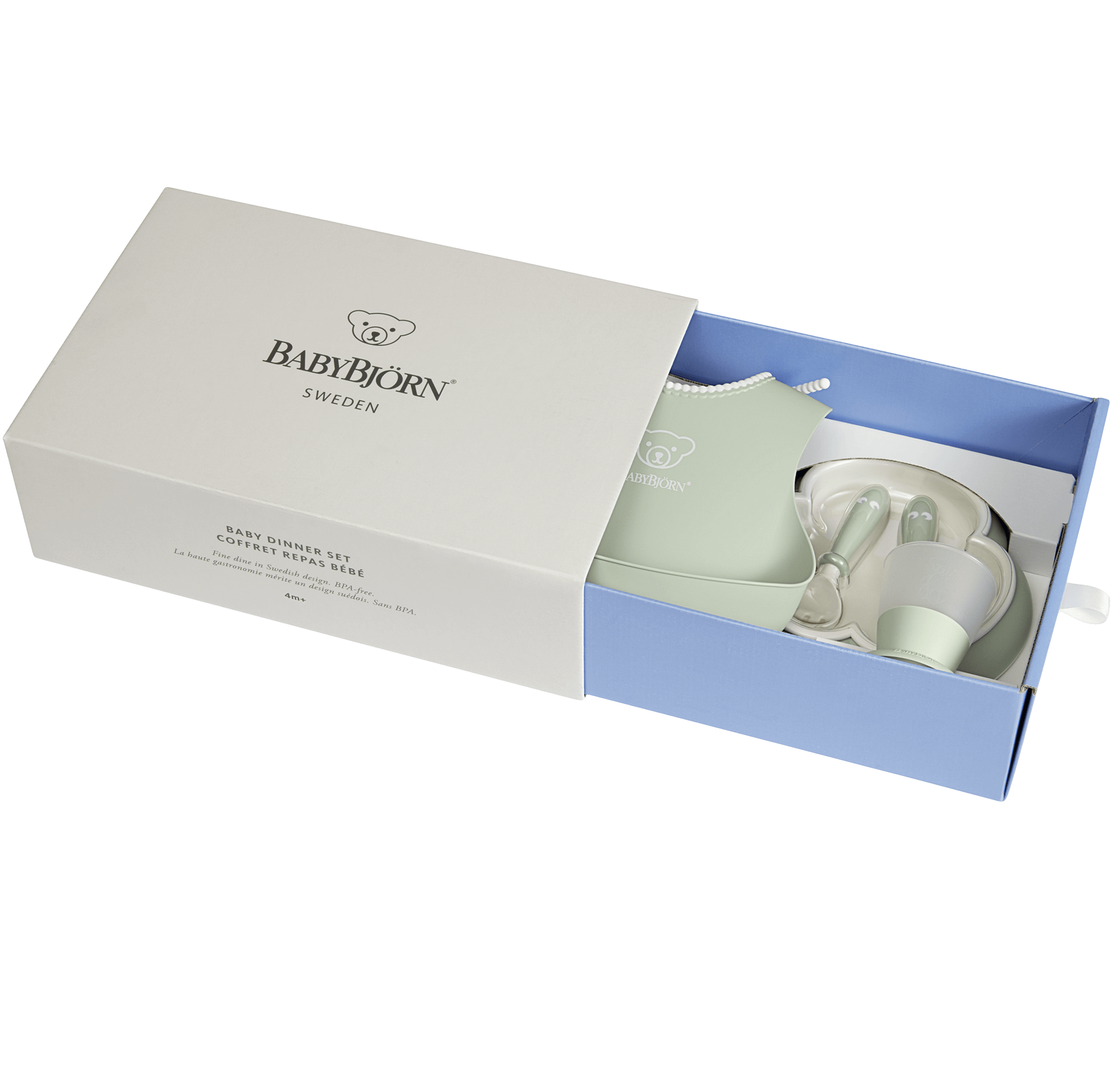 Baby Dinner Set Box Powder Green - BABYBJÖRN