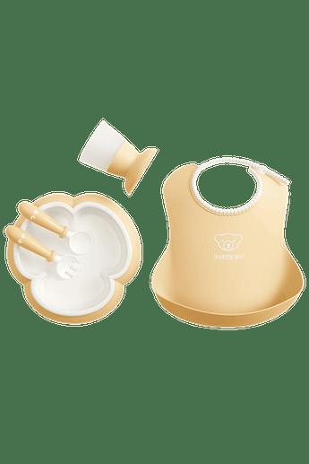 Middagsset för barn i blekgul BPA-fri plast - BABYBJÖRN