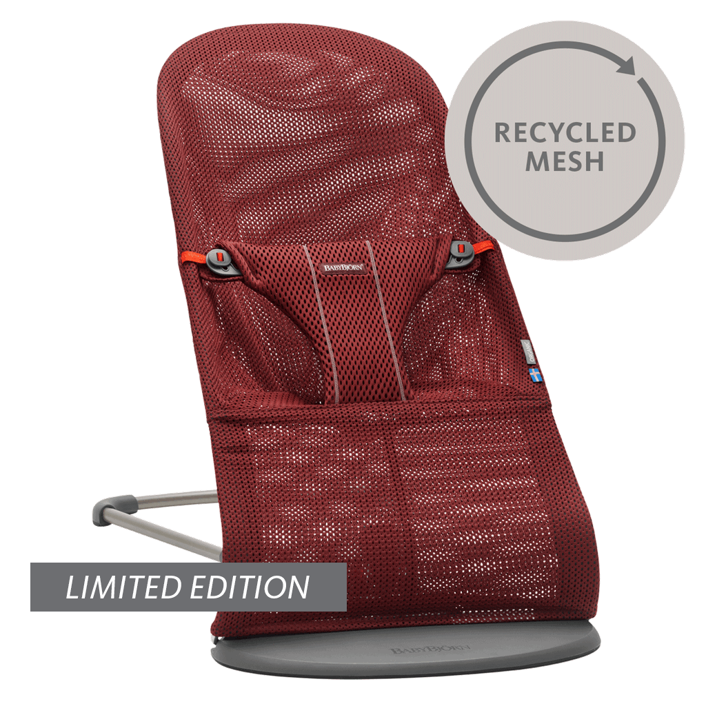 Babysitter-Bliss-Vinröd-Recycled-mesh-006007-BABYBJÖRN-limited-edition