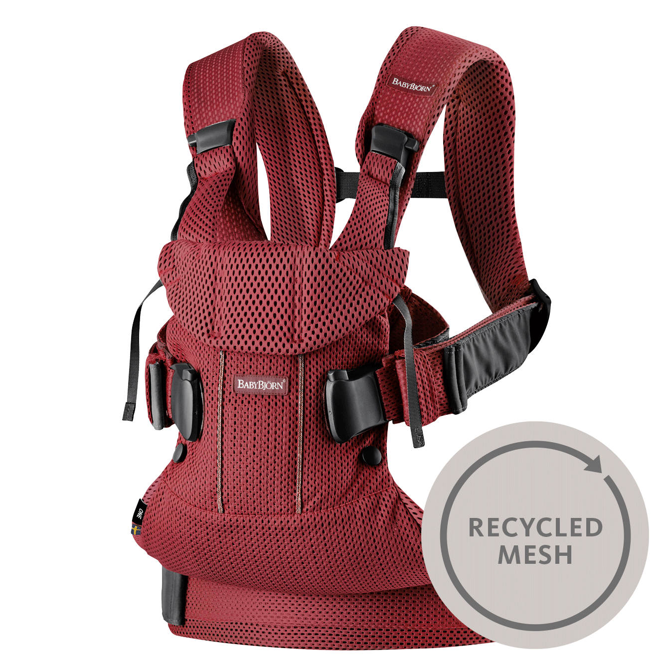 Babytrage One Air Burgunderrot Recycled-Mesh-098007-BABYBJÖRN