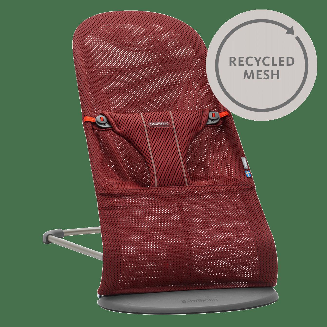 Babywippe Bliss Burgunderrot Recycled-Mesh-006007-BABYBJÖRN