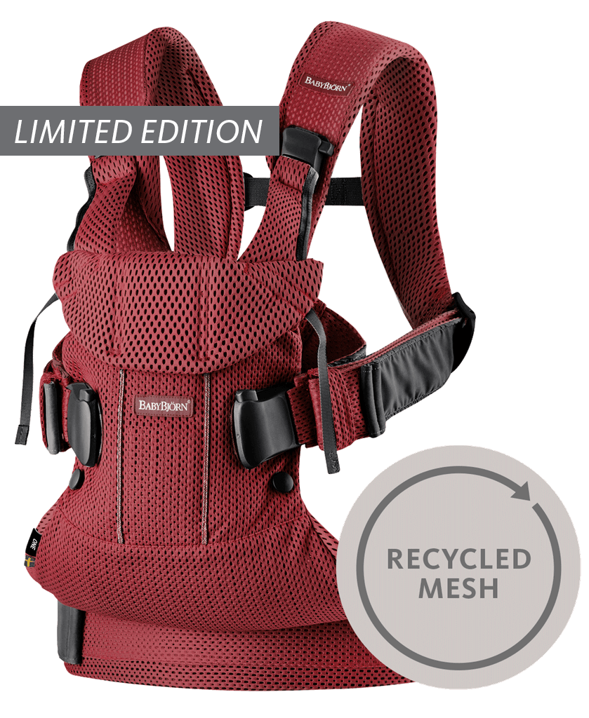 Bärsele-One-Air-Vinröd-Recycled-Mesh-098007-BABYBJÖRN-limited-edition