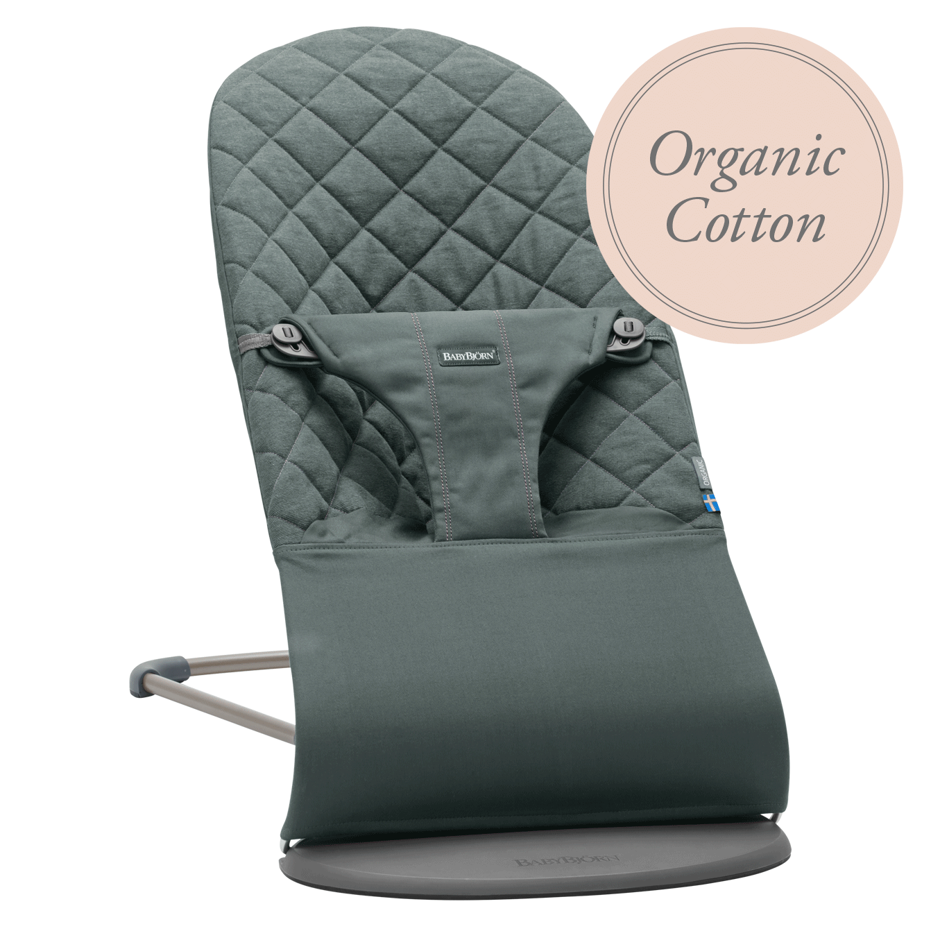 Bouncer Bliss Greyish-Green Organic-Cotton-006068-BABYBJÖRN