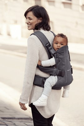Baby Carrier One, Denim Grey/Dark Grey - Cotton mix - Babybjorn