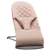 Bouncer Bliss in Old Rose quilted soft cotton - BABYBJÖRN