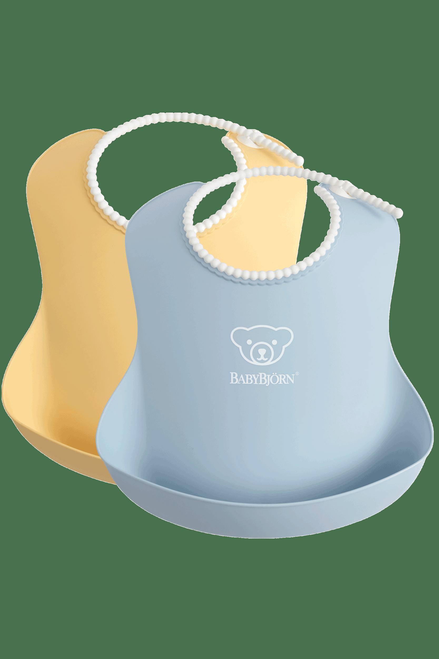 Haklapp, 2-pack i Blekgul/Blekblå BPA-fri plast - BABYBJÖRN