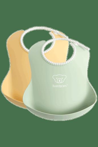 Haklapp, 2-pack i Blekgrön/Blekgul BPA-fri plast - BABYBJÖRN