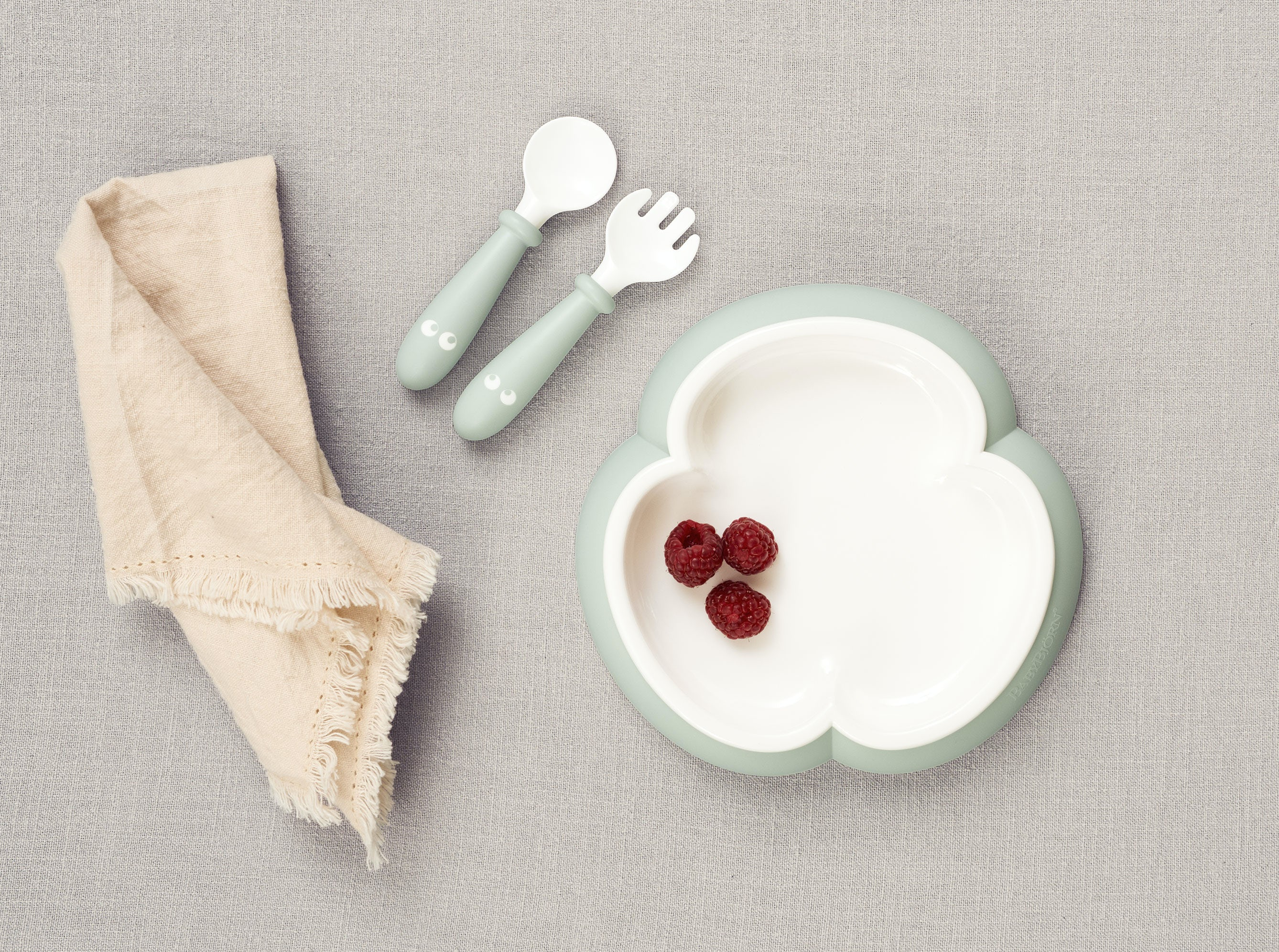 Stylish Baby Plate Set With Baby Cutlery Babybj 214 Rn