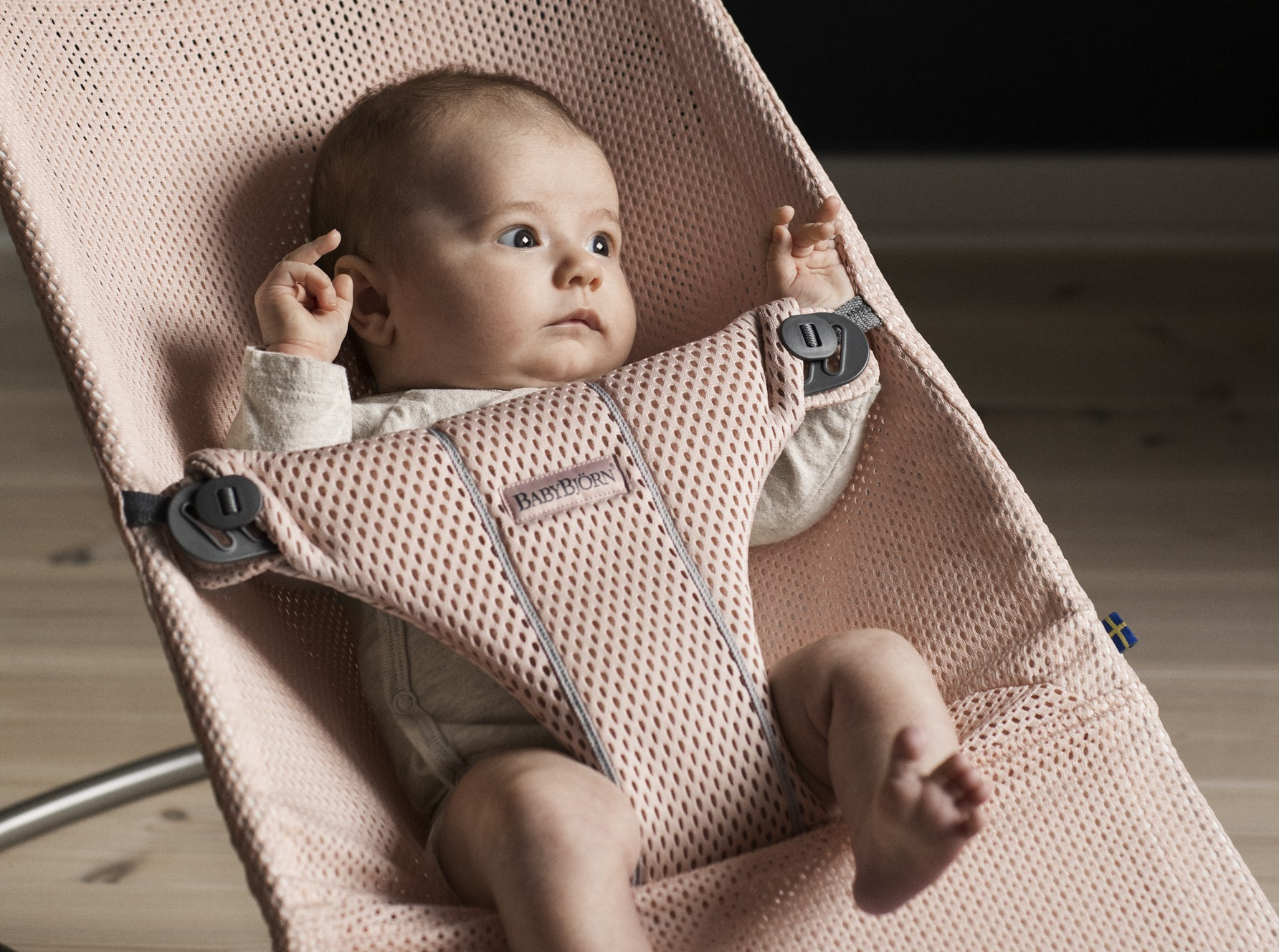 New Baby Bouncer Bliss Mesh Pearly pink, Soft Selection 006001 - BABYBJÖRN