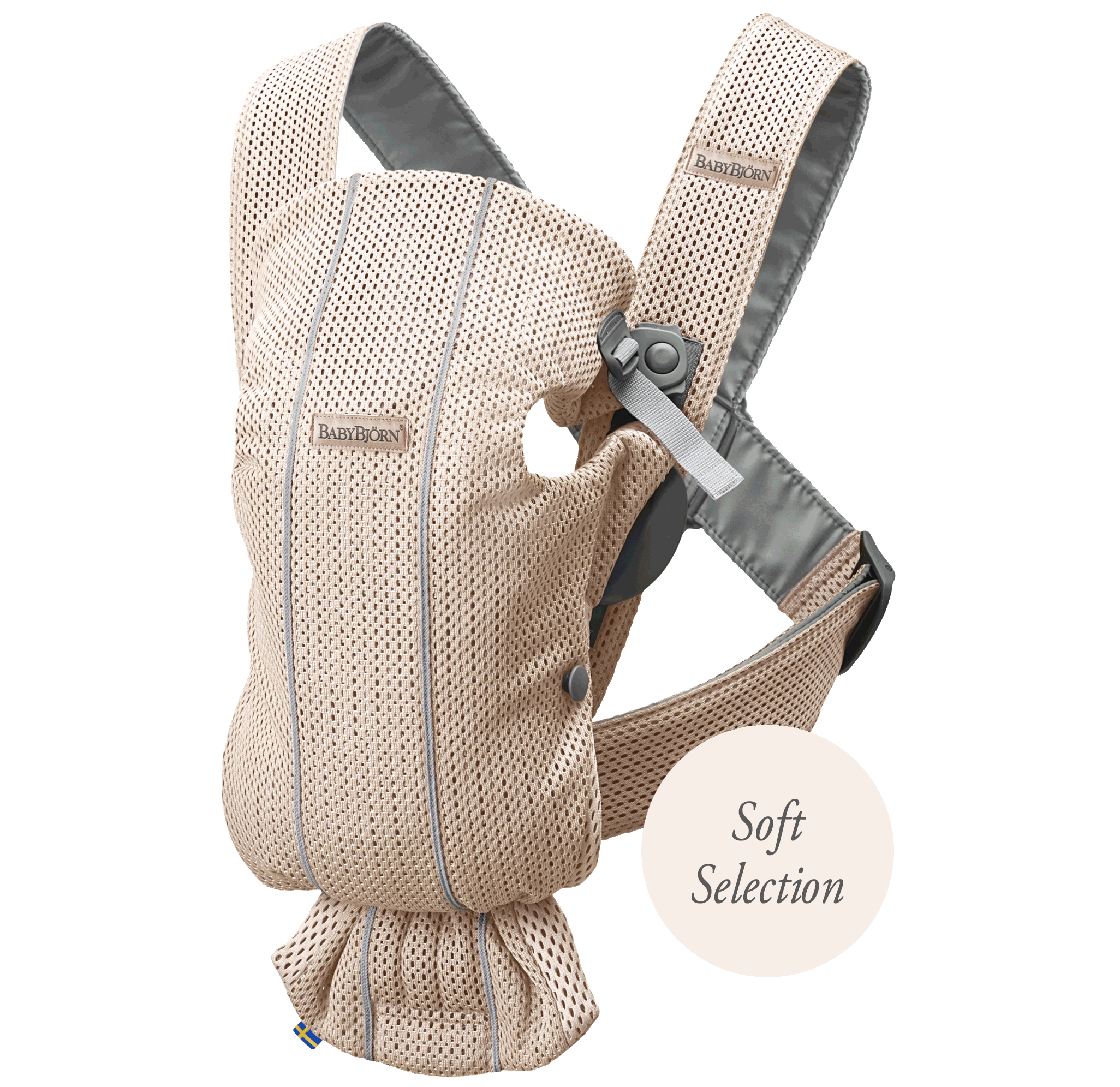 Baby Carrier Mini Pearly Pink 3D Mesh Soft Selection, perfect for a newborn | BABYBJÖRN