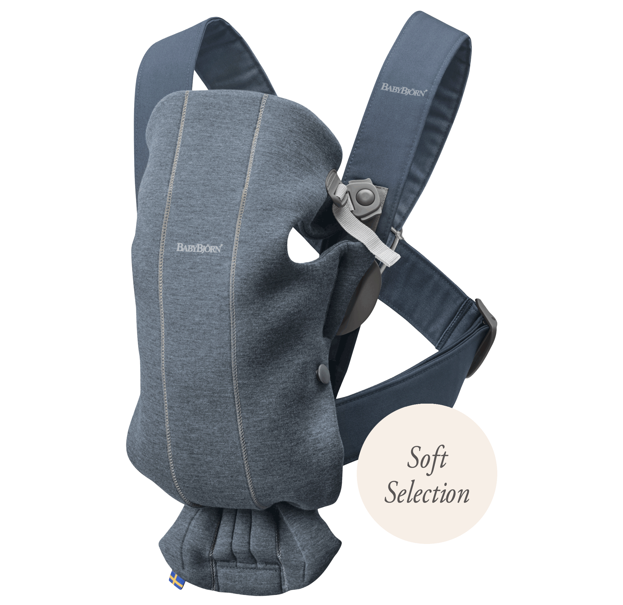 Baby Carrier Mini 3D Jersey dove blue - BABYBJÖRN