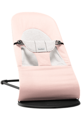 Babywippe Balance Soft Hellrosa/Grau in Cotton-Jersey - BABYBJÖRN