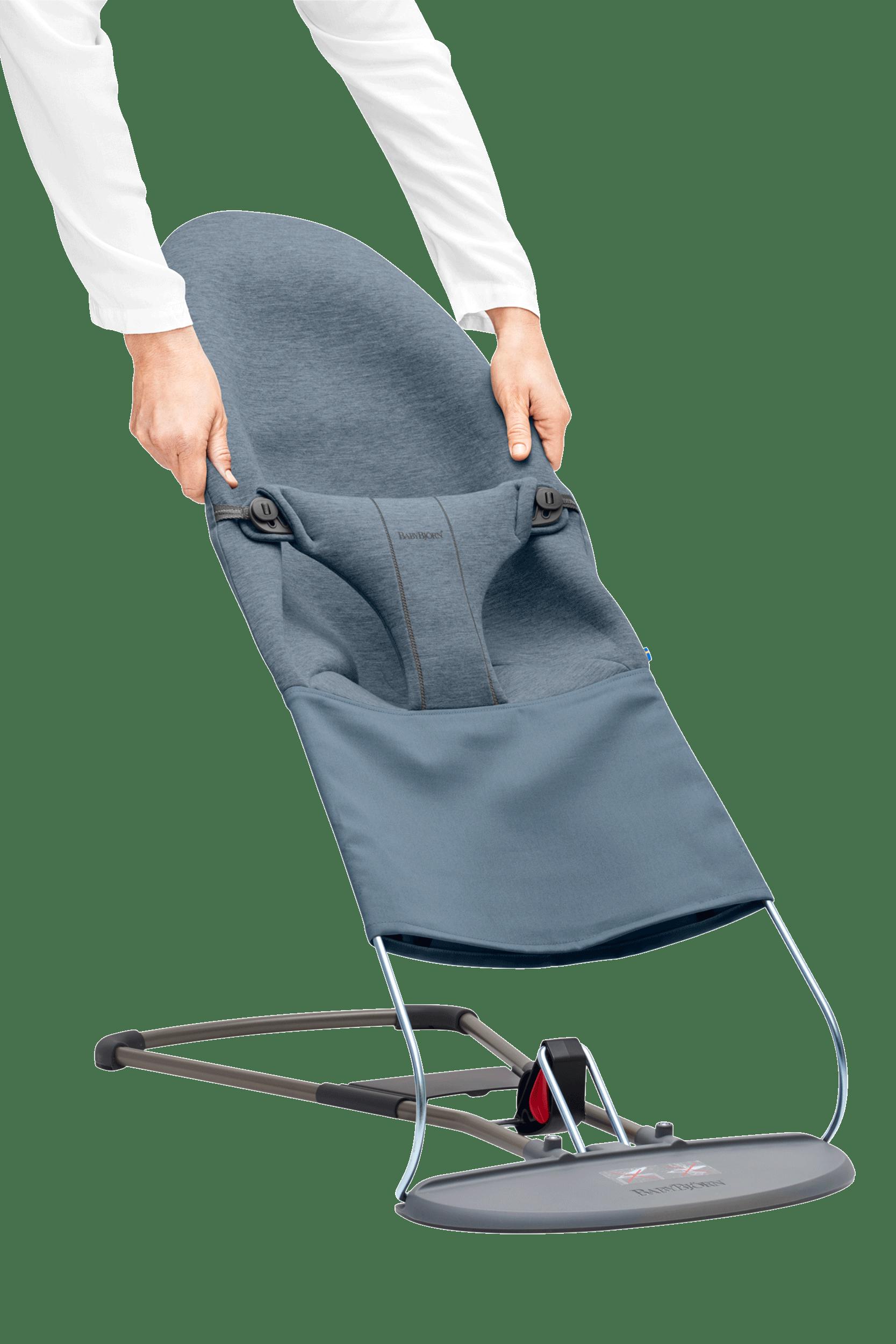 BABYBJÖRN Extra Tygsits till Babysitter Bliss - Duvblå, 3D Jersey