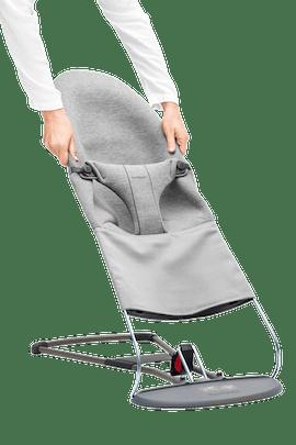 Extra tygsits till Babysitter Bliss i supermjuk Ljusgrå 3D Jersey - BABYBJÖRN