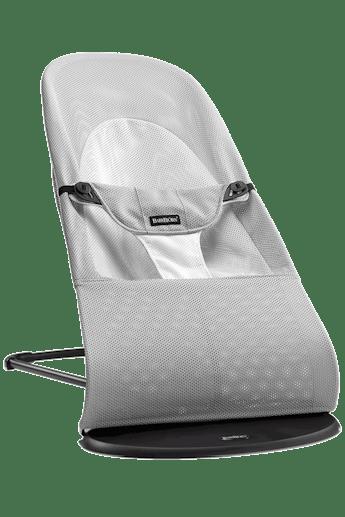 Hamaca Balance Soft Plata Blanco Mesh - BABYBJÖRN