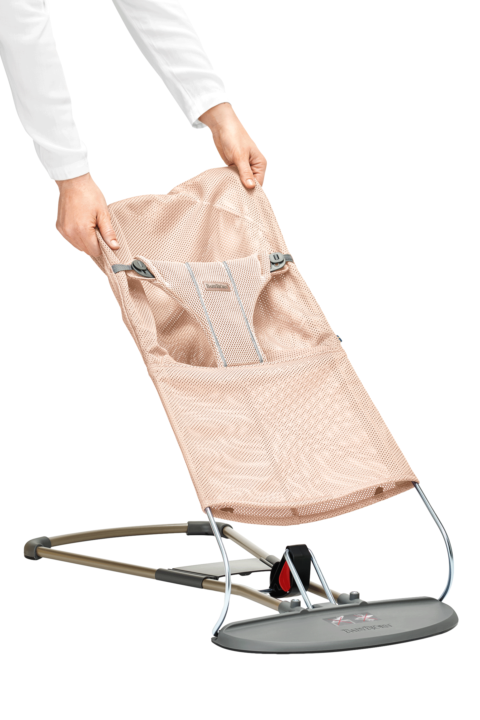 BABYBJÖRN Extra Tygsits till Babysitter Bliss - Pärlemorrosa, Mesh