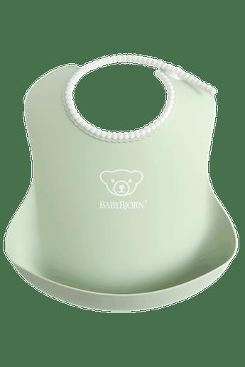 Baby Bib with deep spill pocket, Powder Green - BABYBJÖRN