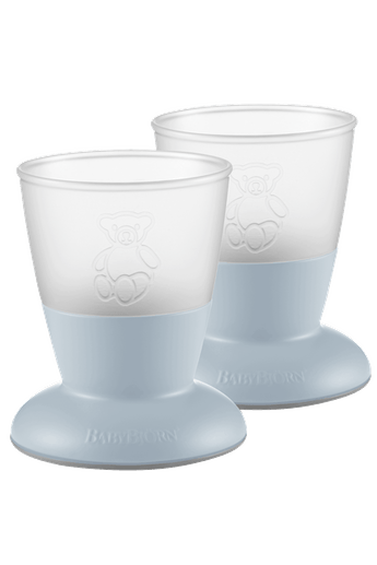 Baby Cup Powder Blue 2-pack - BABYBJÖRN