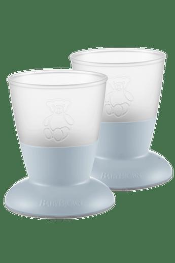 Baby Cup, 2-pack Powder Blue - BABYBJÖRN
